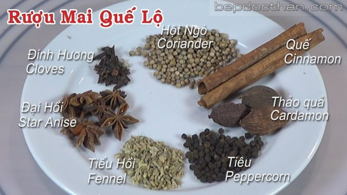 The steps to making Mai Que Lo wine / Cinnamon wine