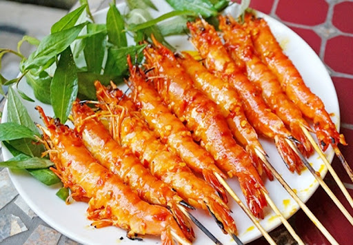 how to cook cinnamon powder grilled shrimp