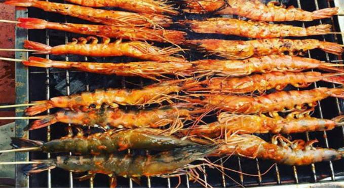super delicious cinnamon powder grilled shrimp